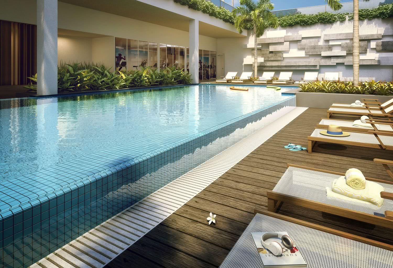 Le matériau utilisé pour la construction d'une piscine à débordement est le même que celui traditionnel