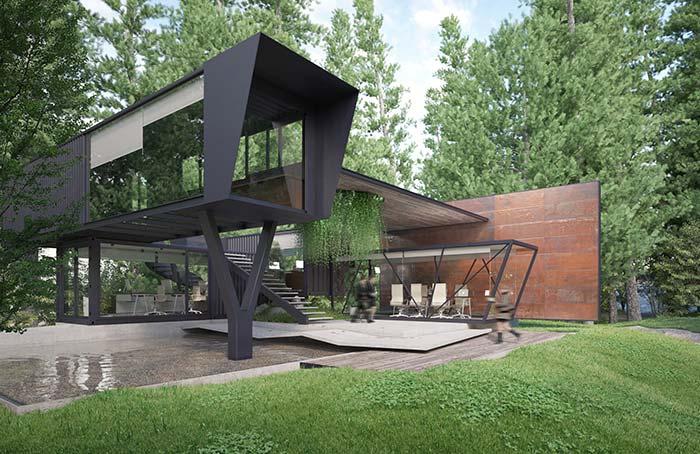 Maison parfaite pour ceux qui recherchent quelque chose de moderne et de frappant