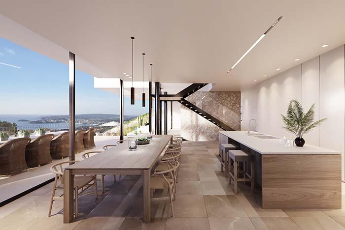 Utilisez du verre pour créer une connexion entre l'intérieur et l'extérieur de la maison