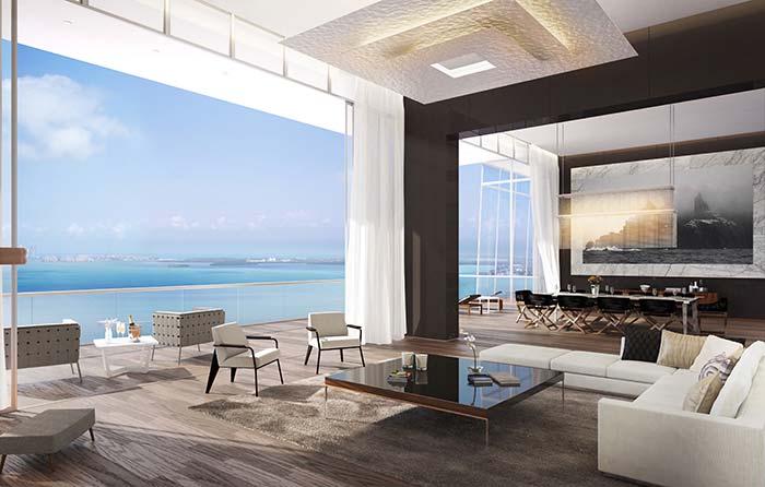 Maison parfaite: la structure incurvée de la maison laisse la pièce avec un look élégant et différencié
