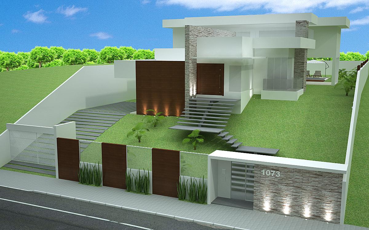 Que diriez-vous d'une façade résidentielle avec le mur principal?