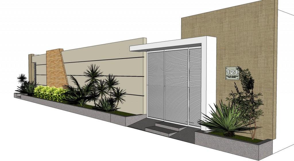 Mur avec petits lits de jardin